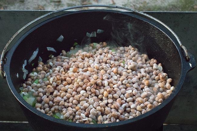 Frozen crowder peas