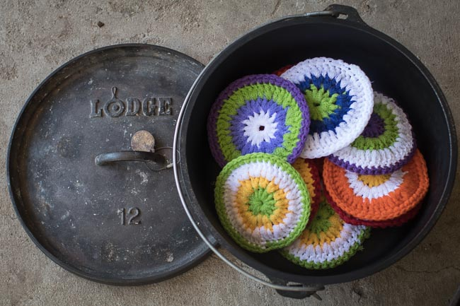 Scrubbies in Dutch Oven with Llid