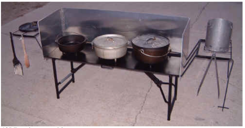 Chuckwagon Supply Cooking Table